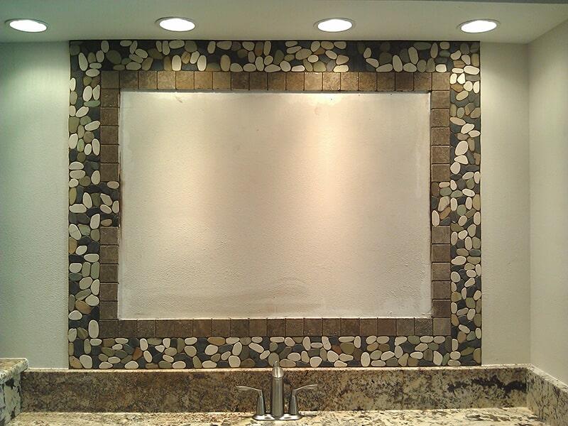 Bathroom backsplash in Bonita Springs, FL from Classic Floors & Countertops