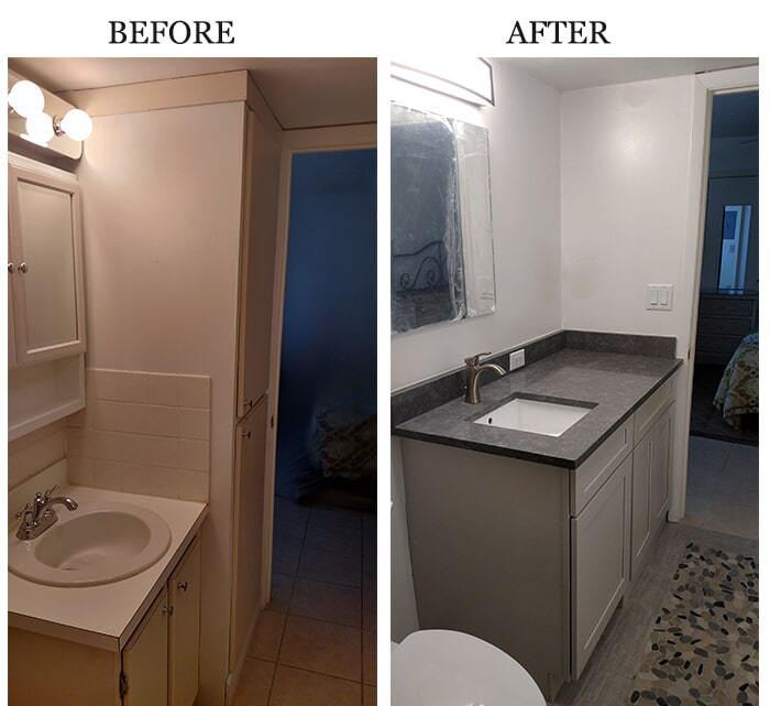 Bathroom remodel in Lee County, FL from Classic Floors & Countertops