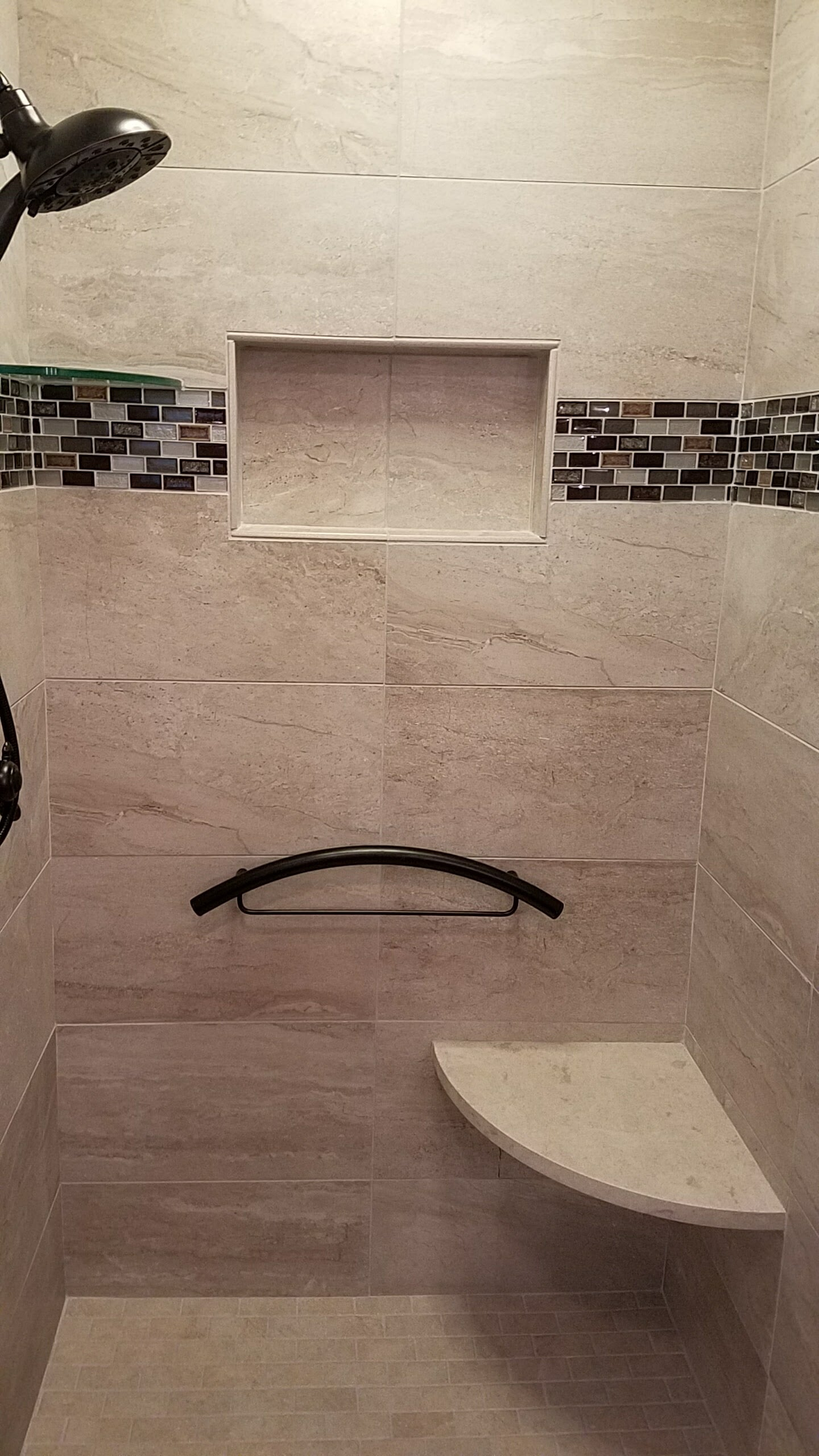 Custom accessible shower in Blowing Rock, NC from McLean Floorcoverings