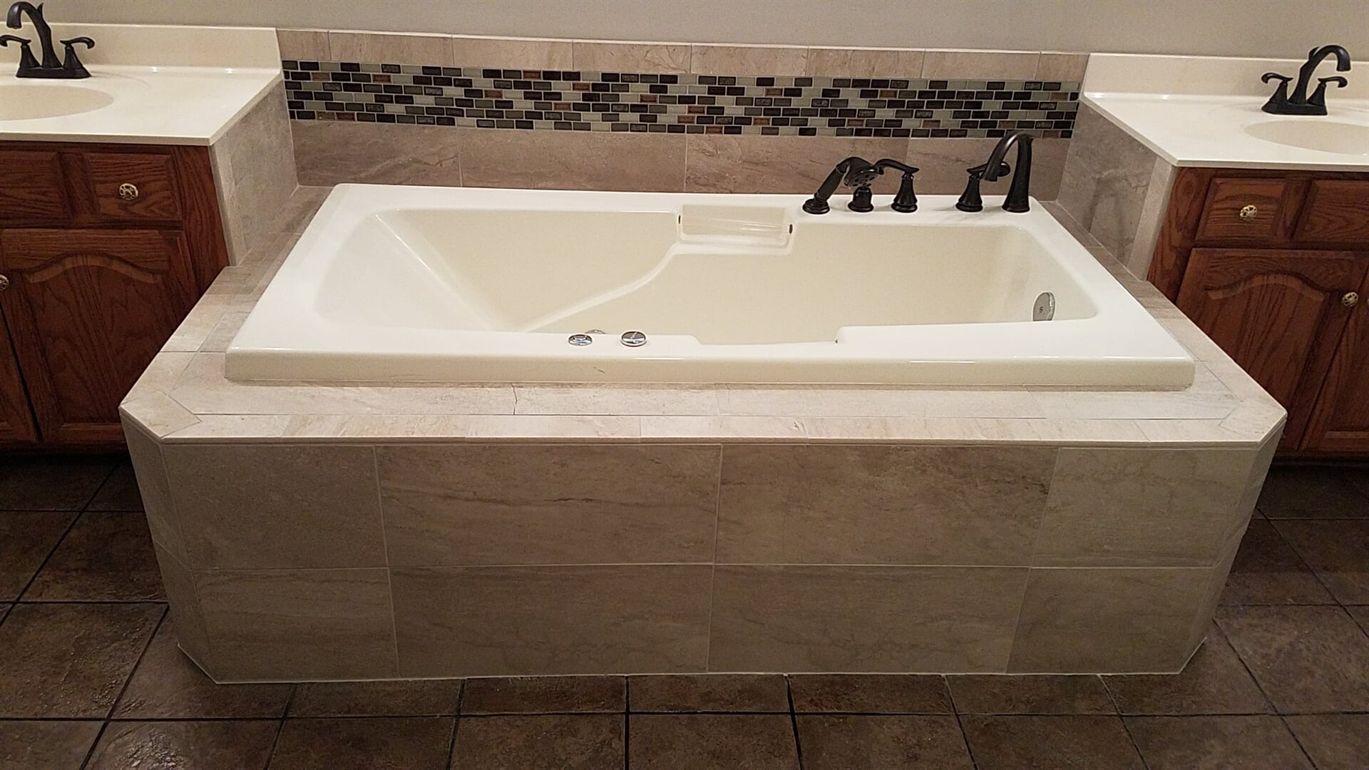 Soaking tub installation in Statesville, NC from McLean Floorcoverings