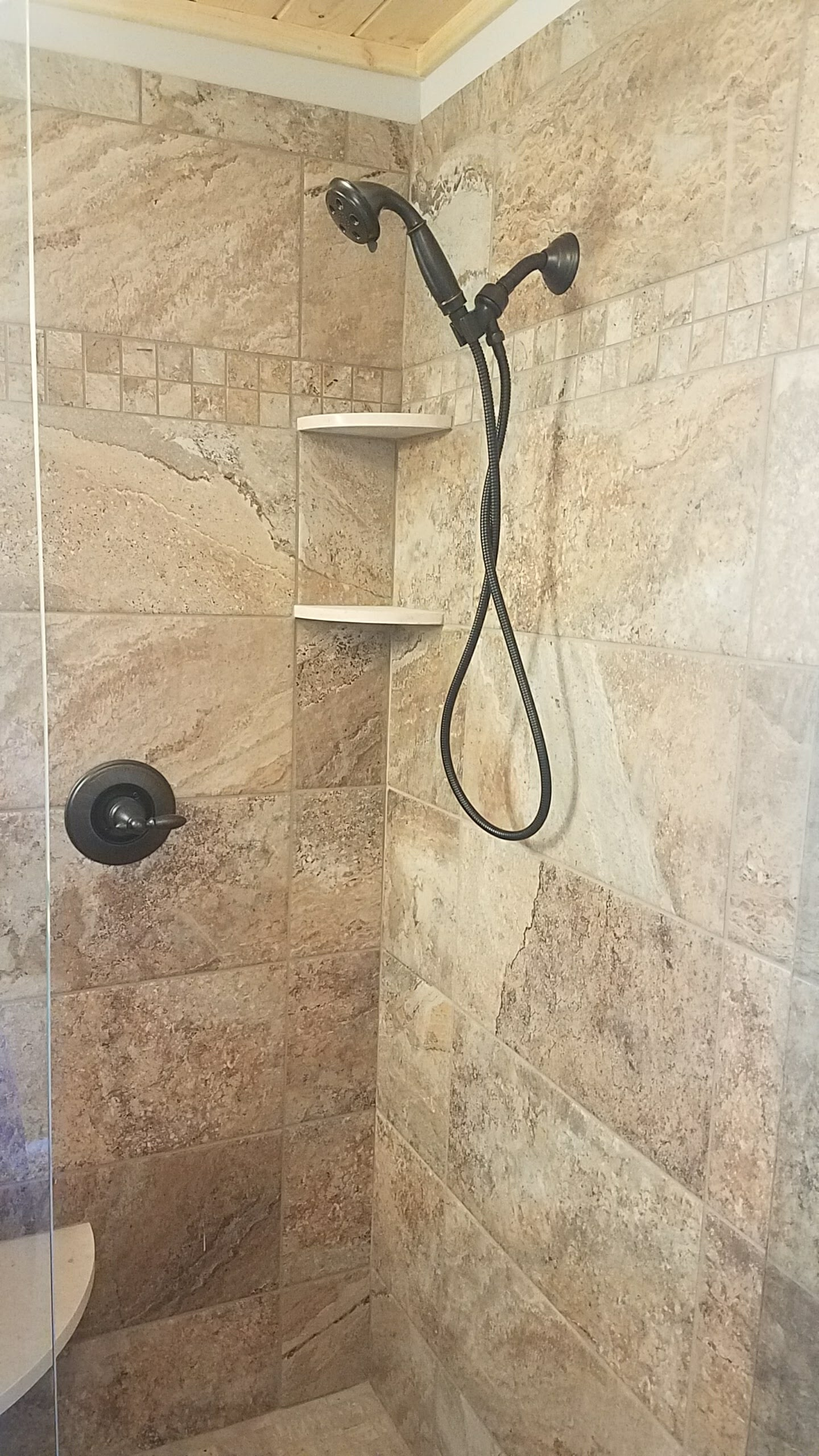 Classic tile shower in Mount Airy, NC from McLean Floorcoverings