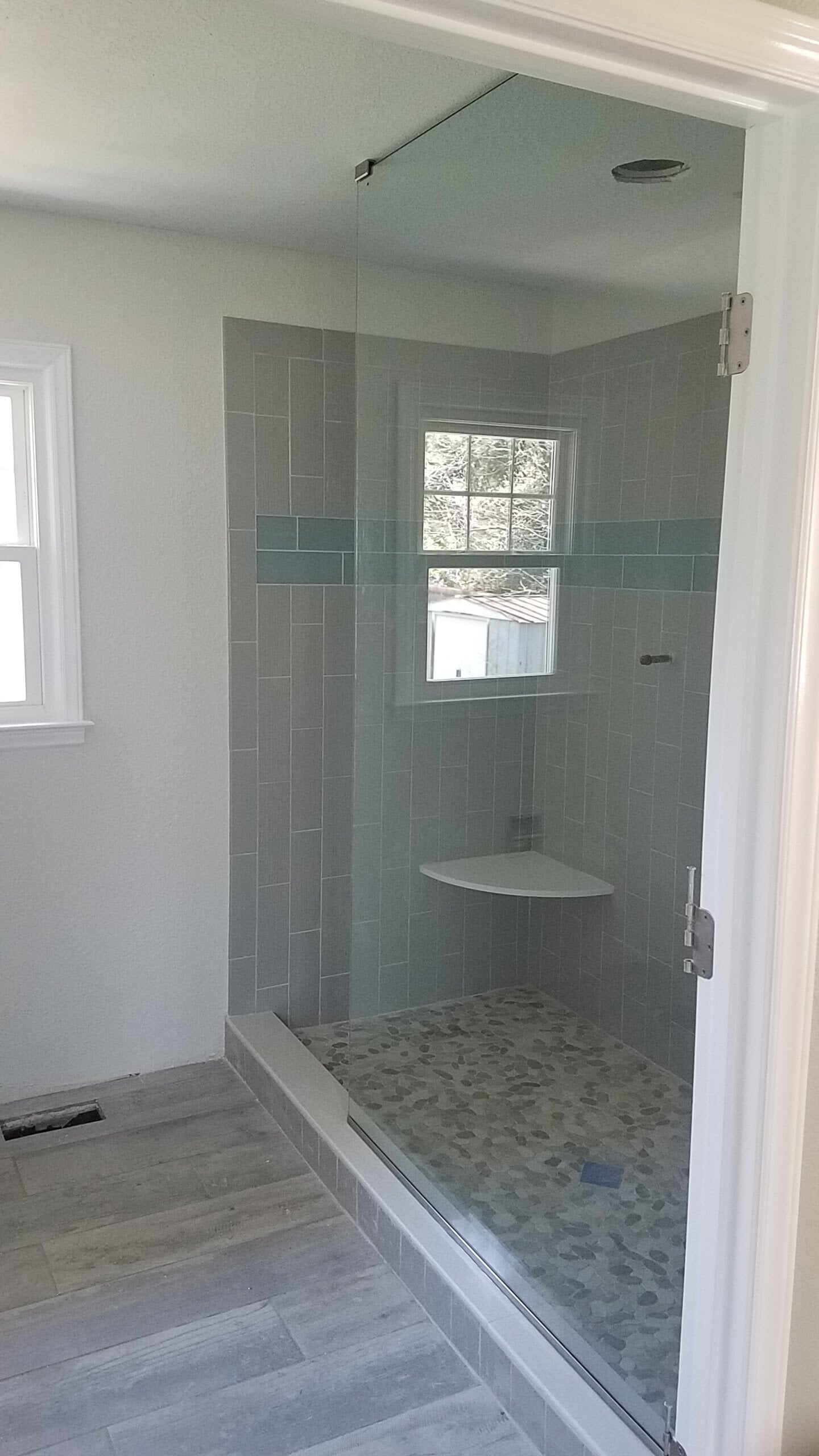 Modern bathroom remodel in Mooresville, NC from McLean Floorcoverings
