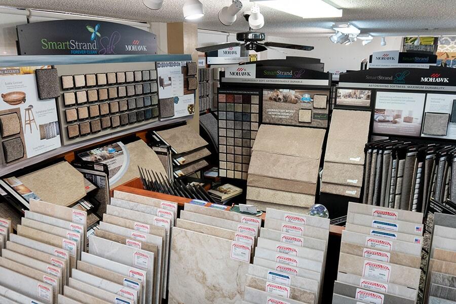 Extensive showroom in Vero Beach, FL at Carpet & Tile Warehouse