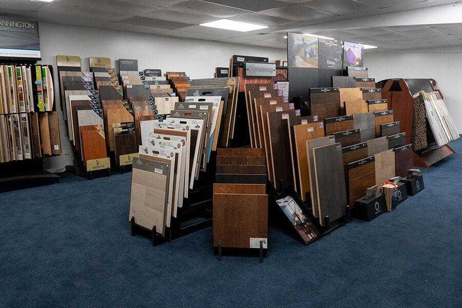 Extensive showroom in Sebastian, FL at Carpet & Tile Warehouse