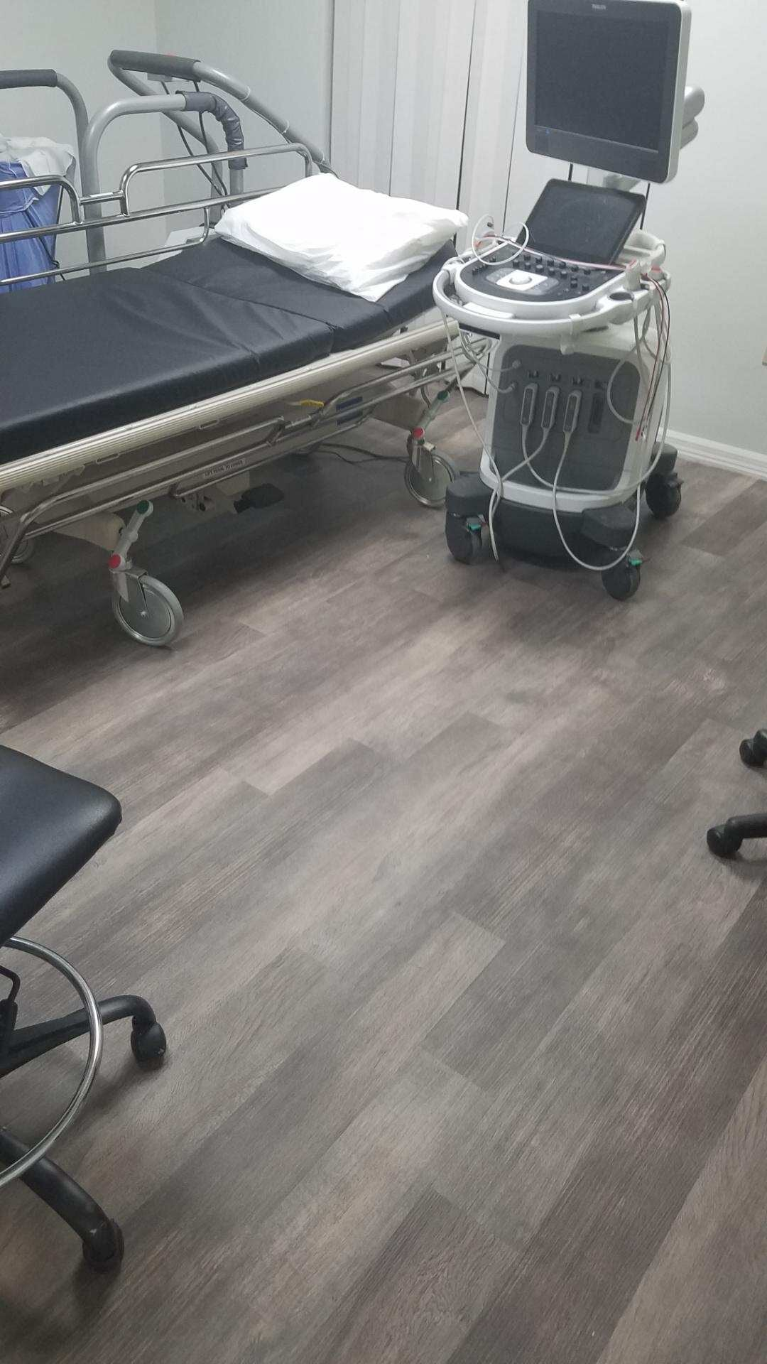 Hospital flooring installation in [[cms:city1] from Paradise Floors and More