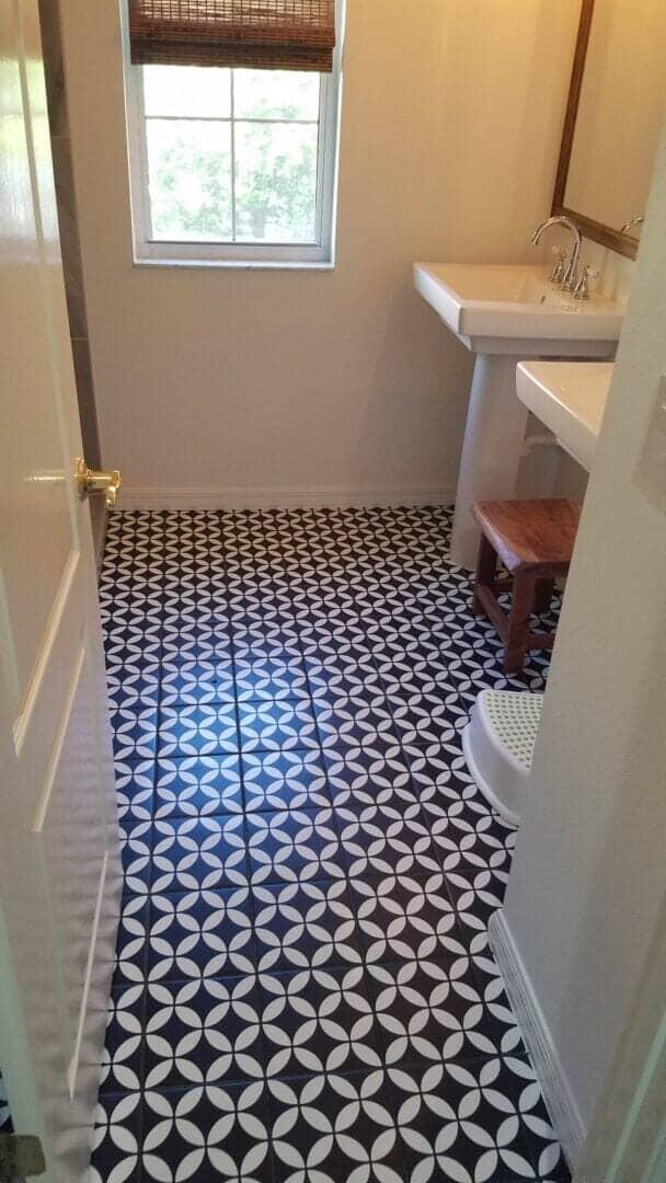 Bathroom tile flooring installation in Bradenton, FL from Paradise Floors and More
