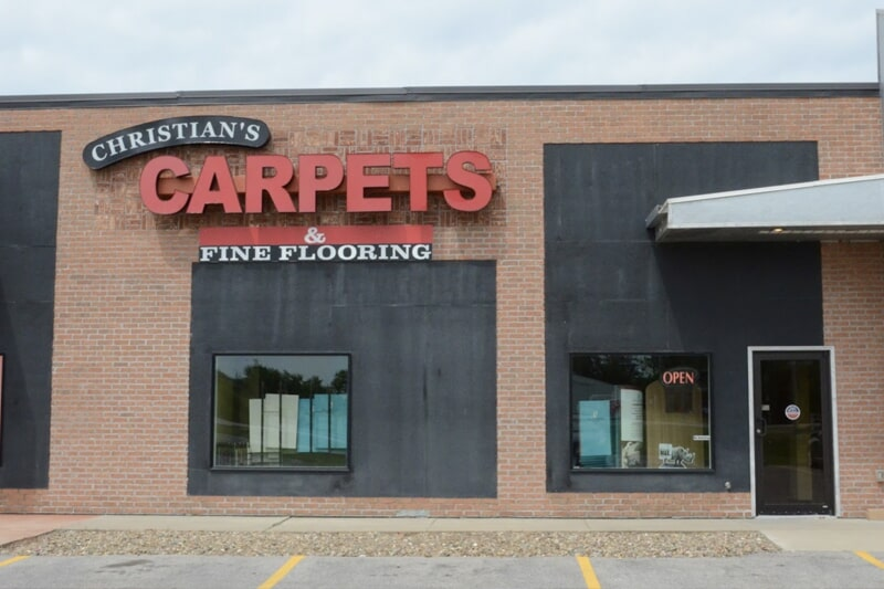 Christian's Carpets & Fine Flooring showroom near North Liberty, IA
