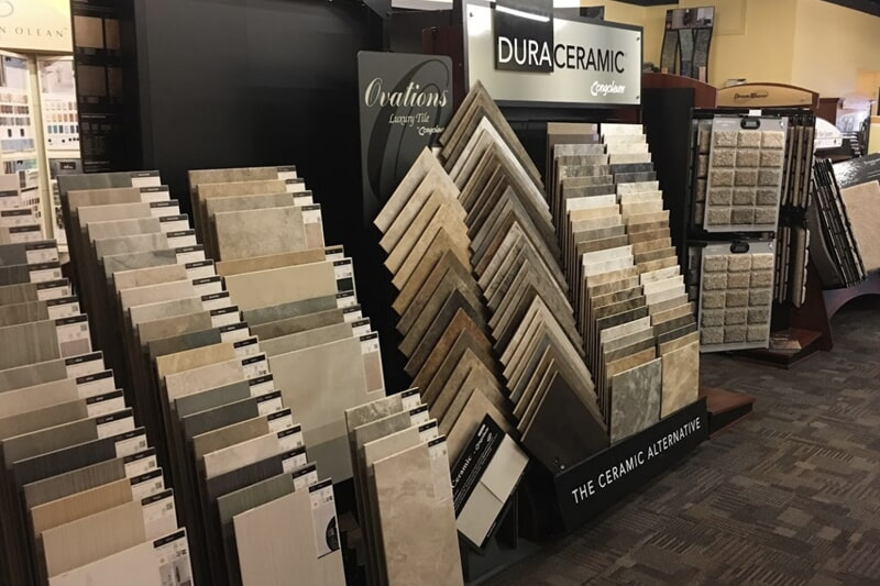 Tile floors in Iowa City, IA from the Christian's Carpets & Fine Flooring showroom