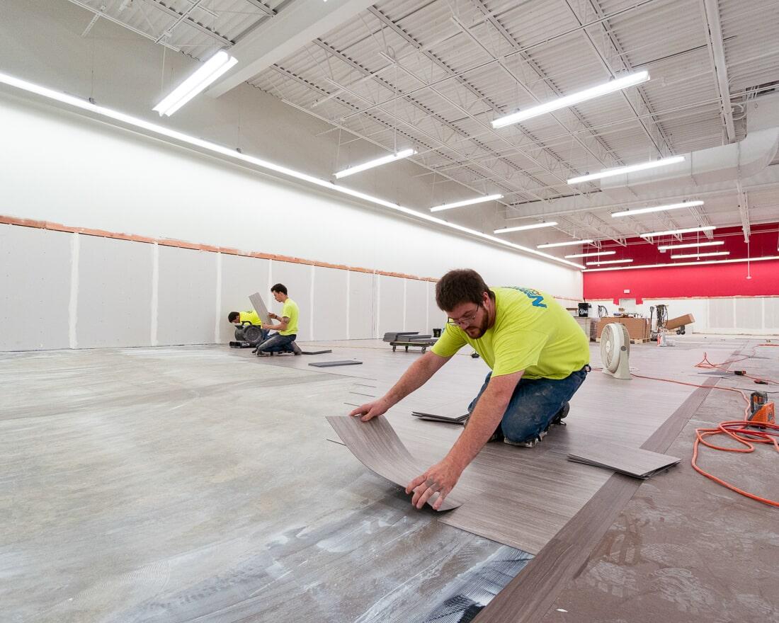 Professional installer at Burlington in Burbank, IL from Carlson's Floors