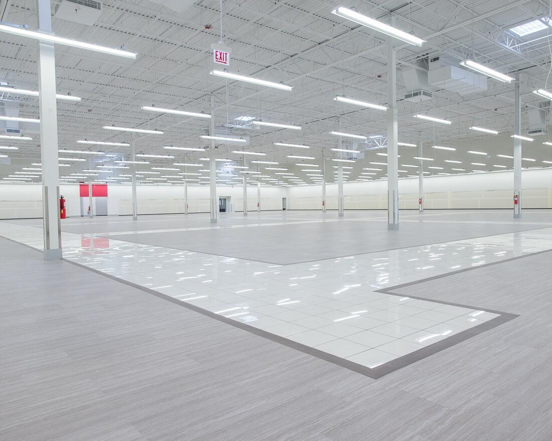 Commercial flooring at Burlington in Burbank, IL from Carlson's Floors
