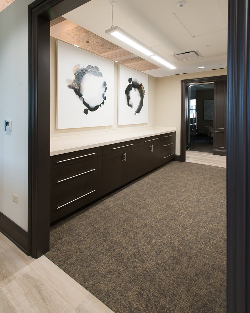 Commercial carpet at Sterling Bank in St. Charles, IL from Carlson's Floors