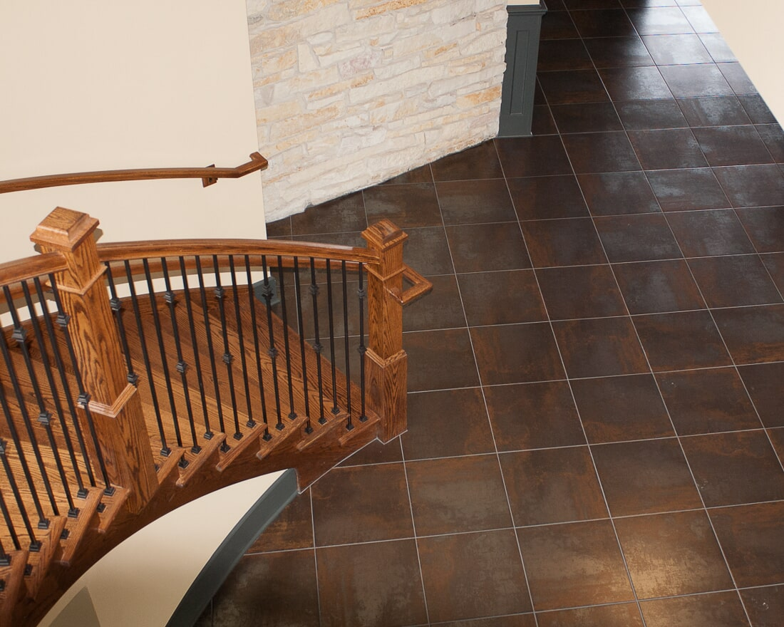 Tile flooring at Fishermen's Inn in Elburn, IL from Carlson's Floors