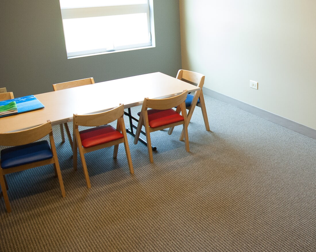Commercial carpet at Crossway Chapel in Batavia, IL from Carlson's Floors