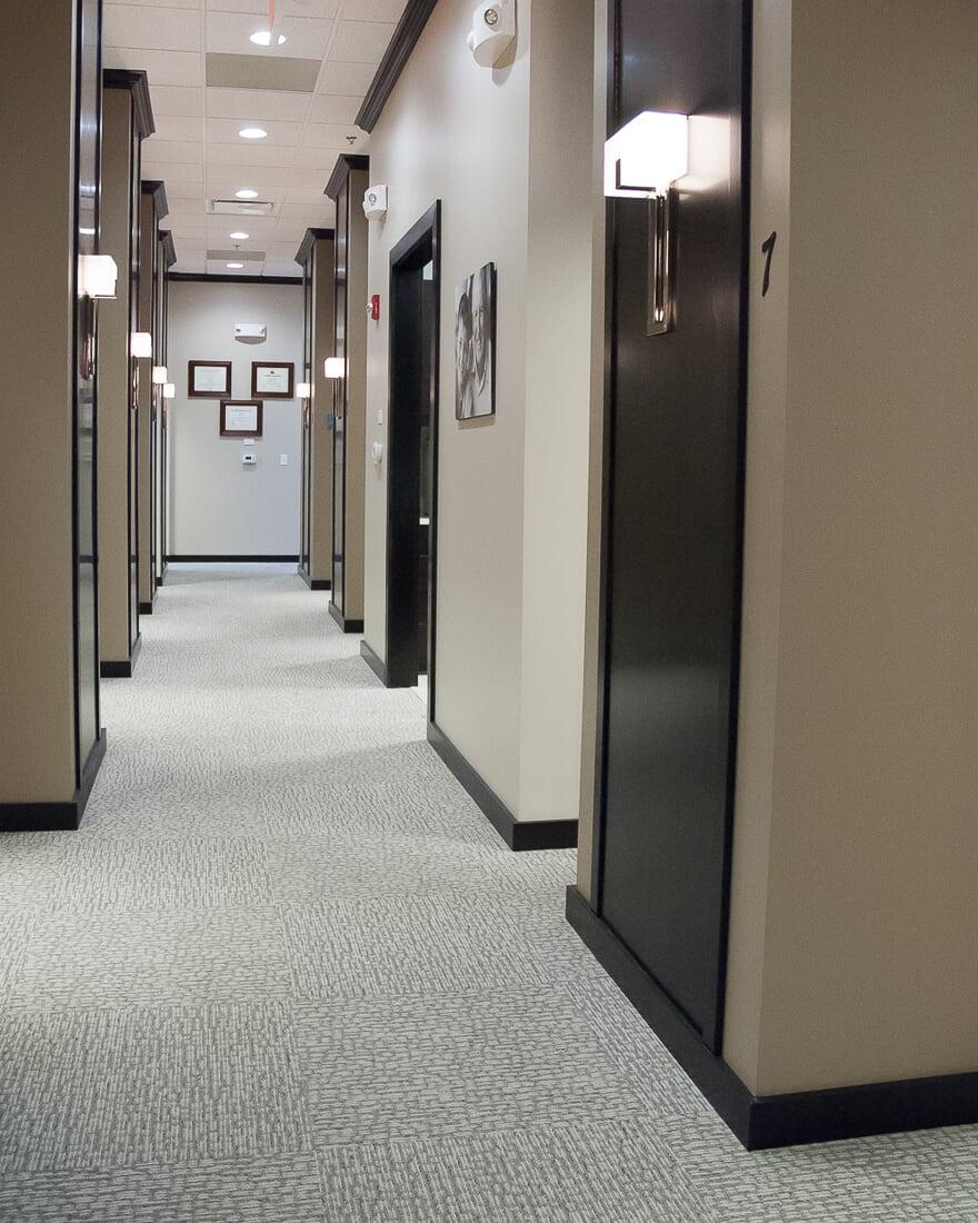 Carpet tiles at Oswego Dental in Oswego, IL from Carlson's Floors