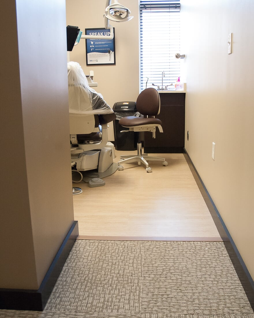 Commercial flooring at Oswego Dental in Oswego, IL from Carlson's Floors