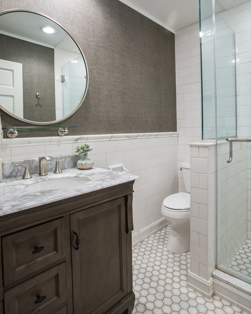 Subway tile shower in Batavia, IL from Carlson's Floors