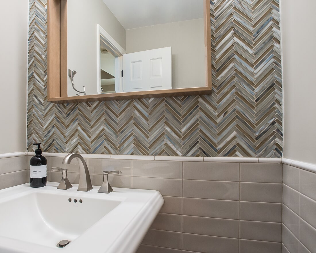 Zig Zag glass tile in Geneva, IL from Carlson's Floors