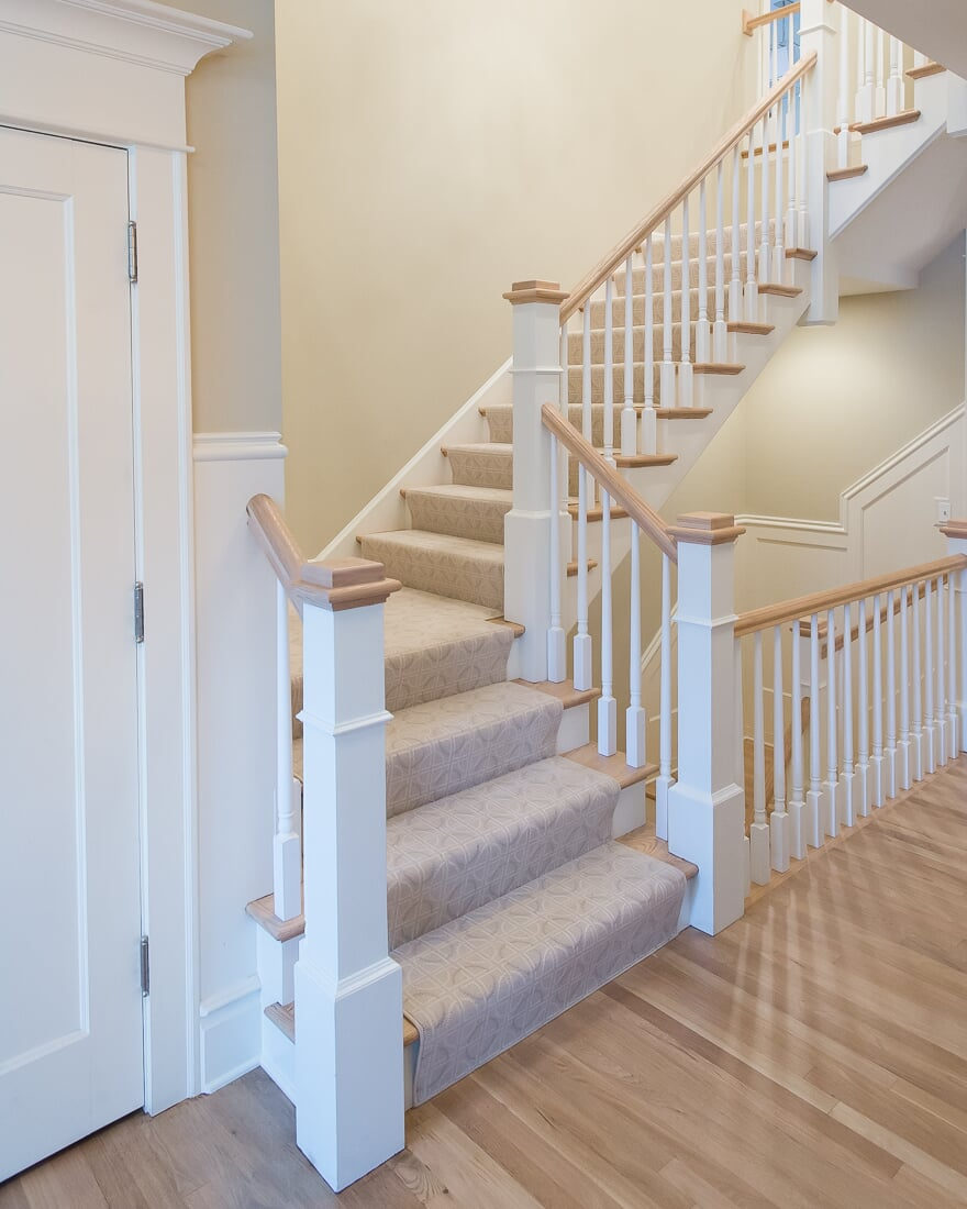 Carpeted stairs in Hinsdale, IL from Carlson's Floors