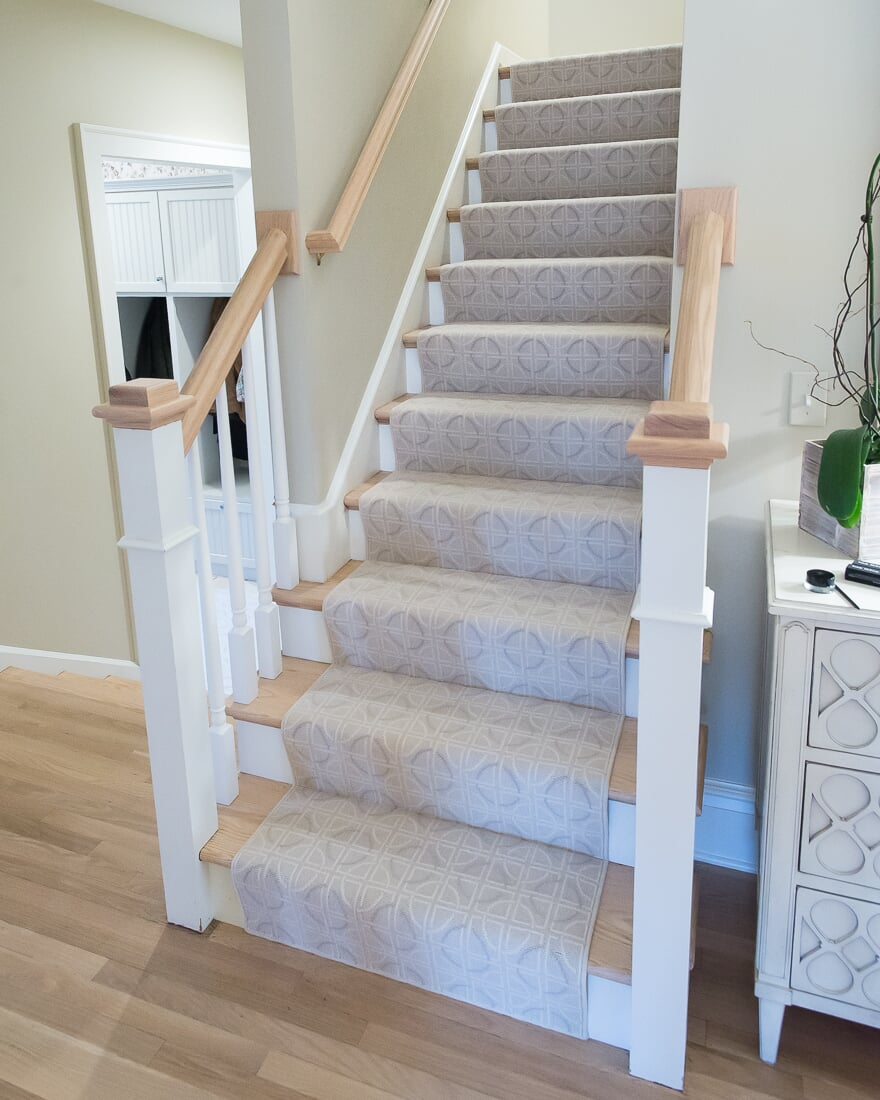 Patterned stair runner in Hinsdale, IL from Carlson's Floors