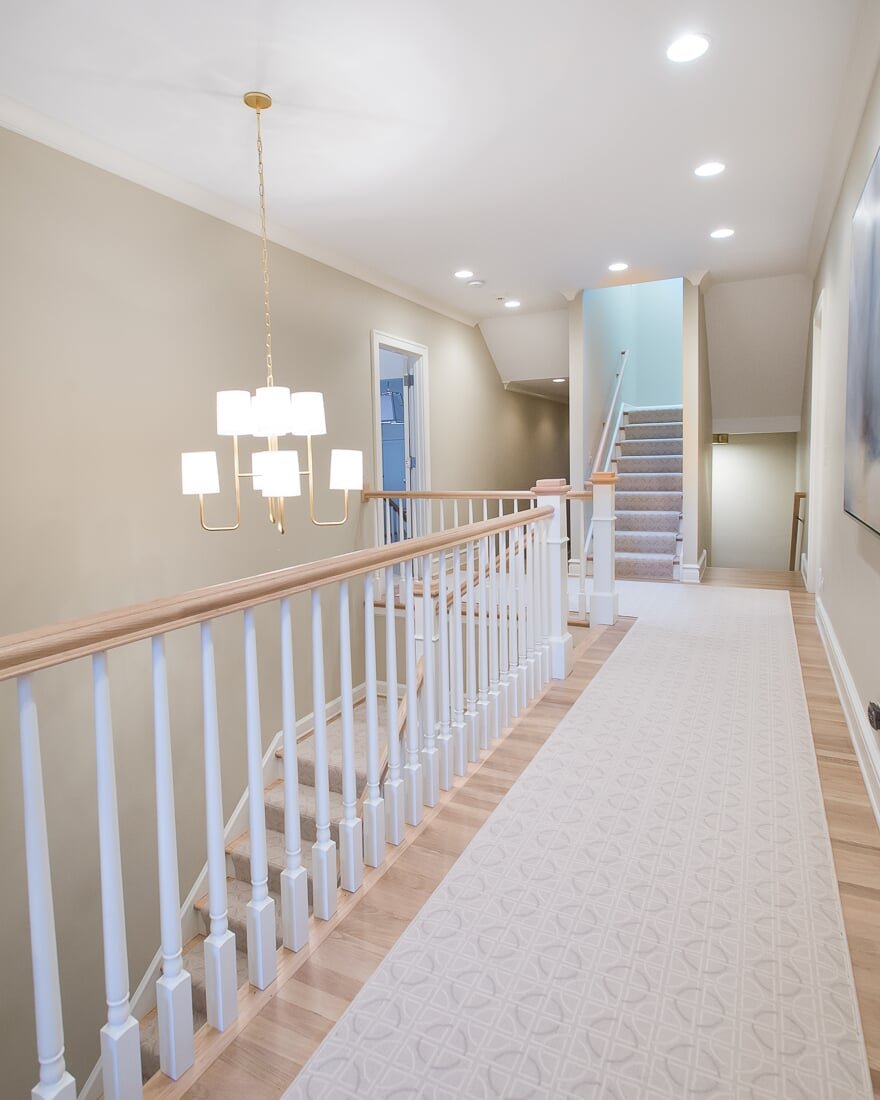 Hallway carpet runner in Hinsdale, IL from Carlson's Floors