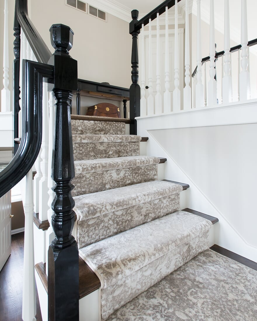 Patterned stair runner in Elburn, IL from Carlson's Floors