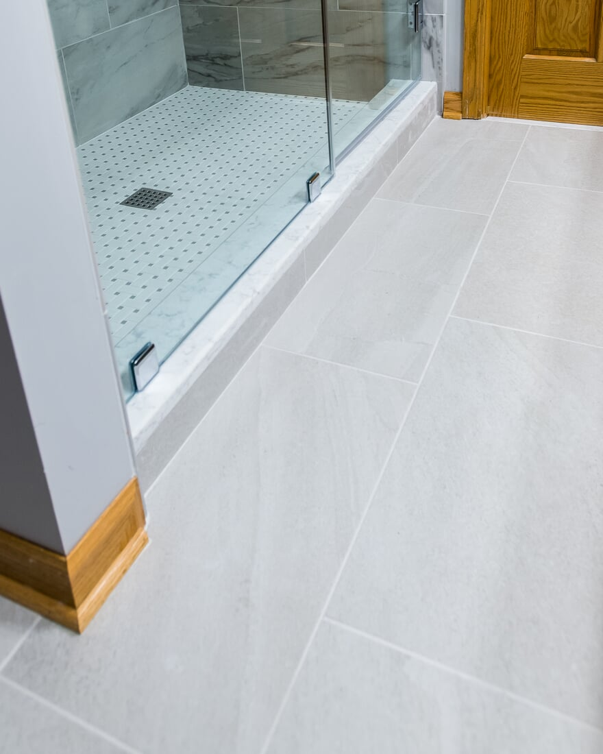 Tile bathroom flooring in Geneva, IL from Carlson's Floors