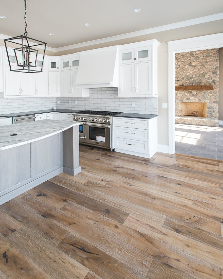 Gorgeous new construction kitchen in Lake Holiday, IL from Carlson's Floors