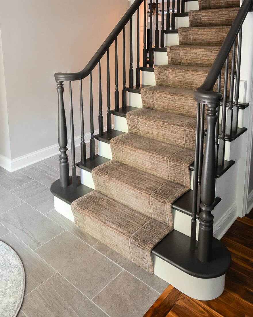 Carpet stair runner in Wheaton, IL from Carlson's Floors
