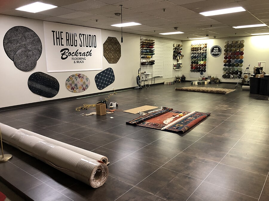 The Rug Studio Interior at Bockrath Flooring & Rugs in Dayton, OH