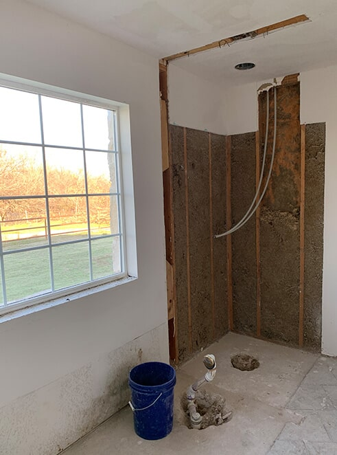 Seralta shower before from ALL-PRO FLOORS in Arlington, TX