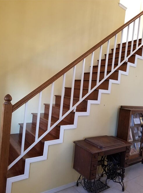 stair remodel after from ALL-PRO FLOORS in Fort Worth, TX