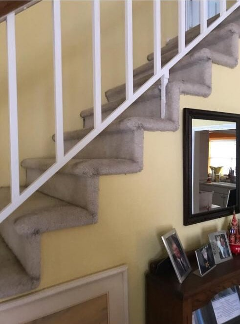 stair remodel before from ALL-PRO FLOORS in Dallas, TX