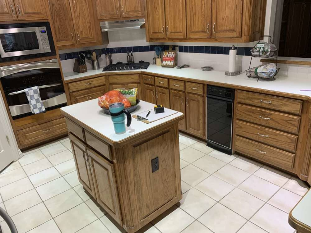 Kitchen remodel from ALL-PRO FLOORS in Arlington, TX