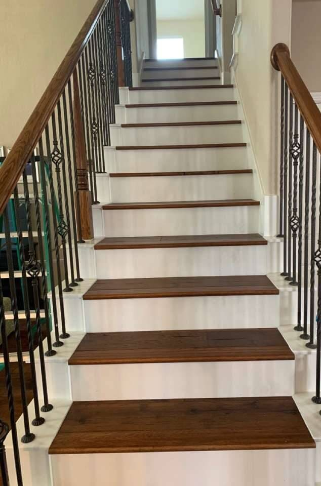 Hardwood stairs from ALL-PRO FLOORS in Arlington, TX