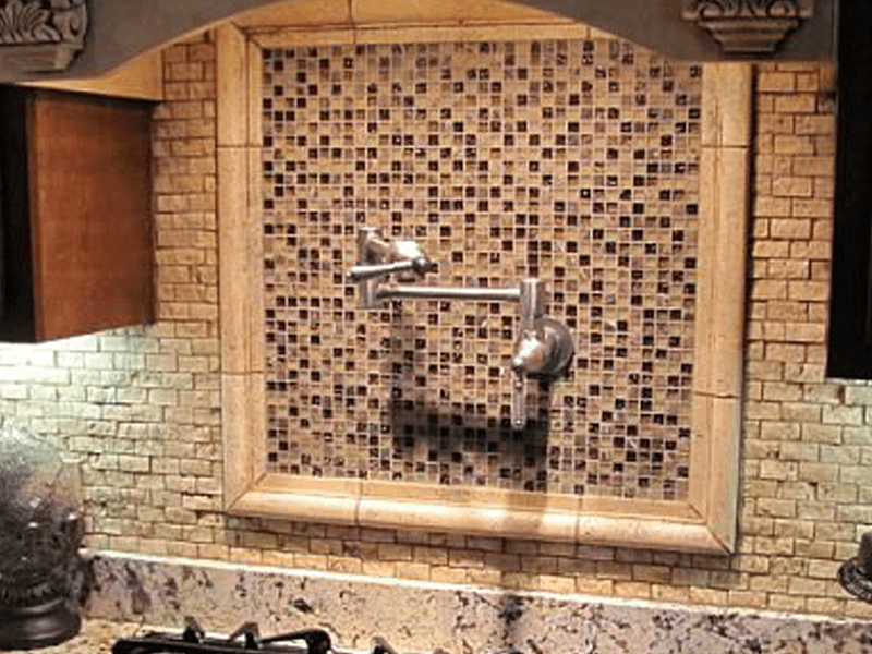 Tile backsplash in Carthage, MO from Joplin Floor Designs