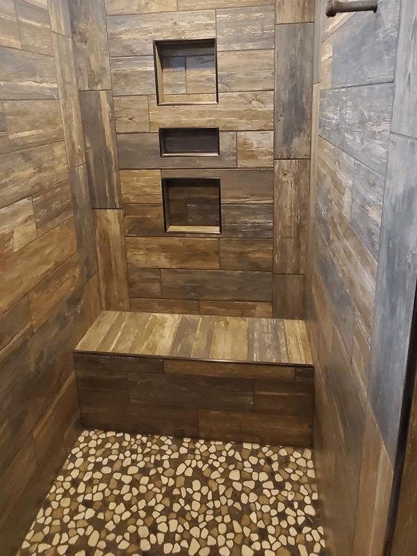 Custom shower in Leawood, MO from Joplin Floor Designs
