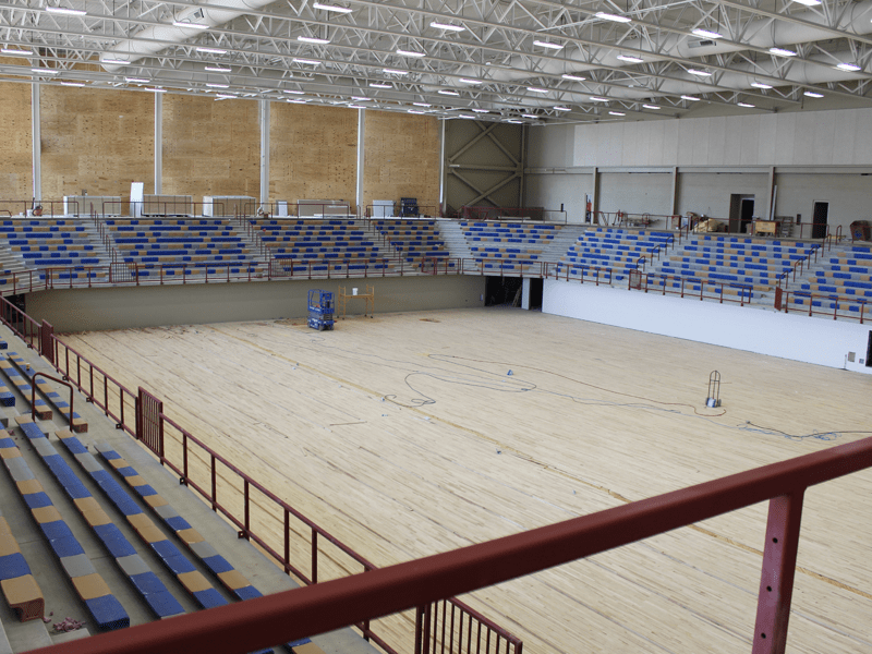 Gymnasium flooring in Leawood, MO from Joplin Floor Designs