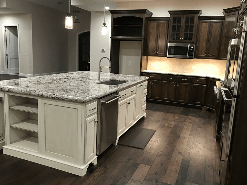 Granite countertop island in Leawood, MO from Joplin Floor Designs