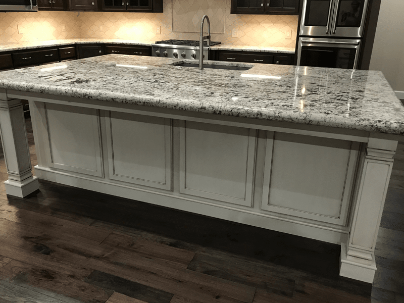 Custom granite countertop in Leawood, MO from Joplin Floor Designs