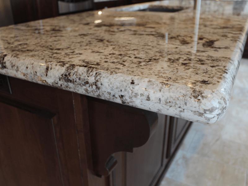 Bullnose edge granite in Carthage, MO from Joplin Floor Designs