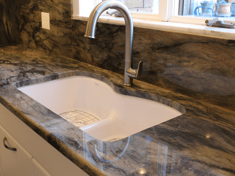 Custom undermount sink in Carl Junction, MO from Joplin Floor Designs