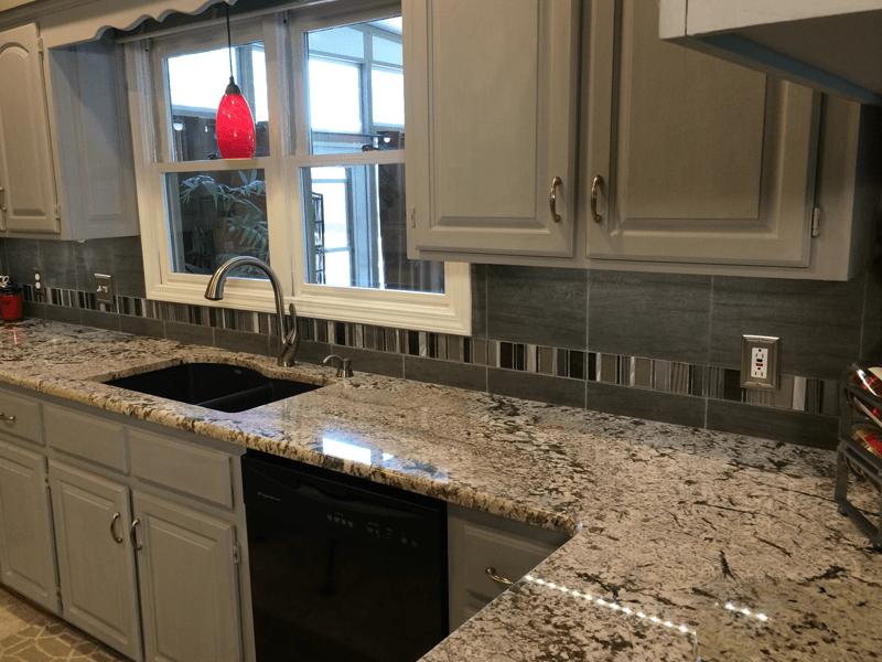 Granite slab countertops in Leawood, MO from Joplin Floor Designs