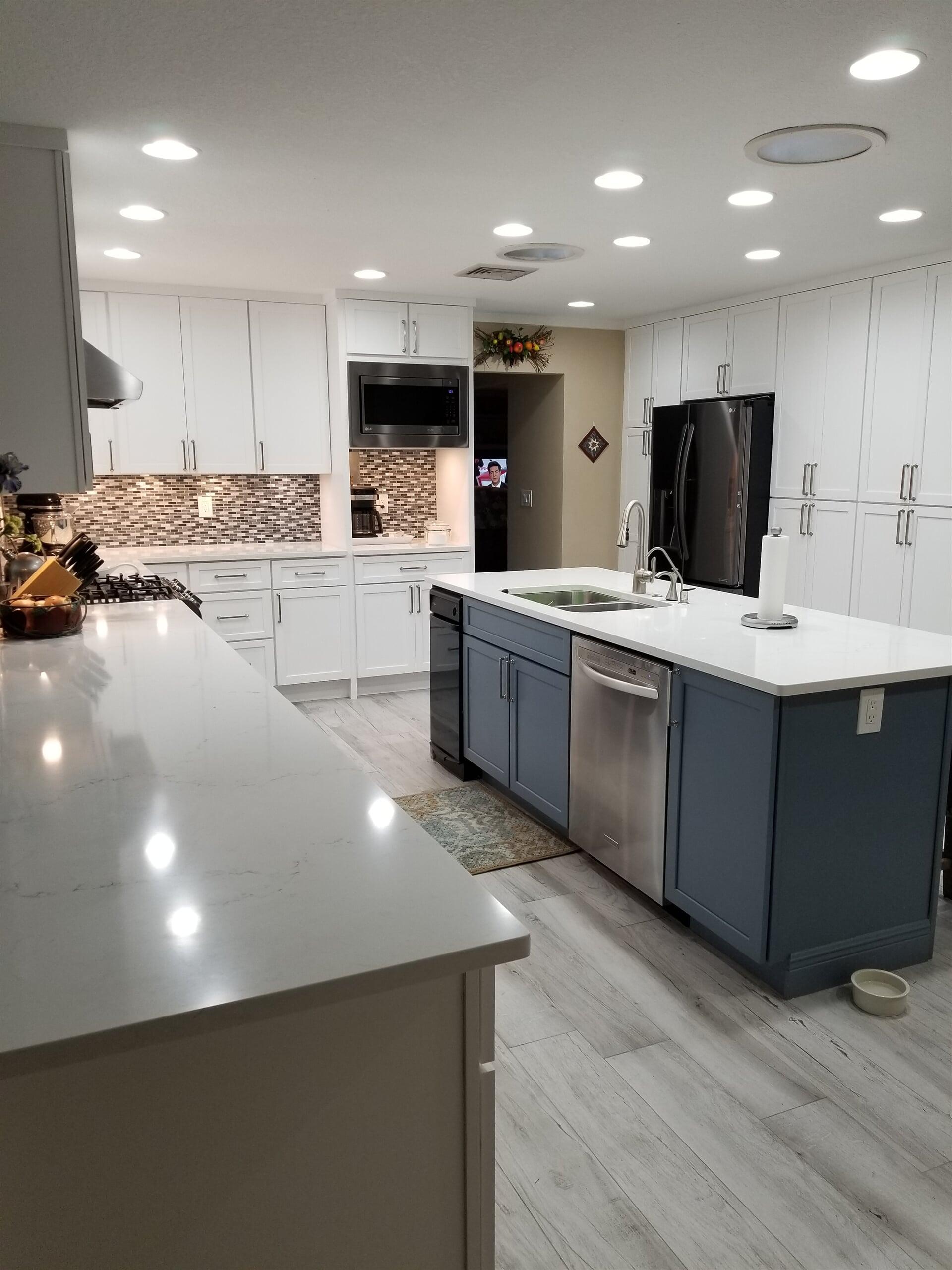 White stone countertop in Port Saint Lucie, FL from Agler Kitchen, Bath & Floors