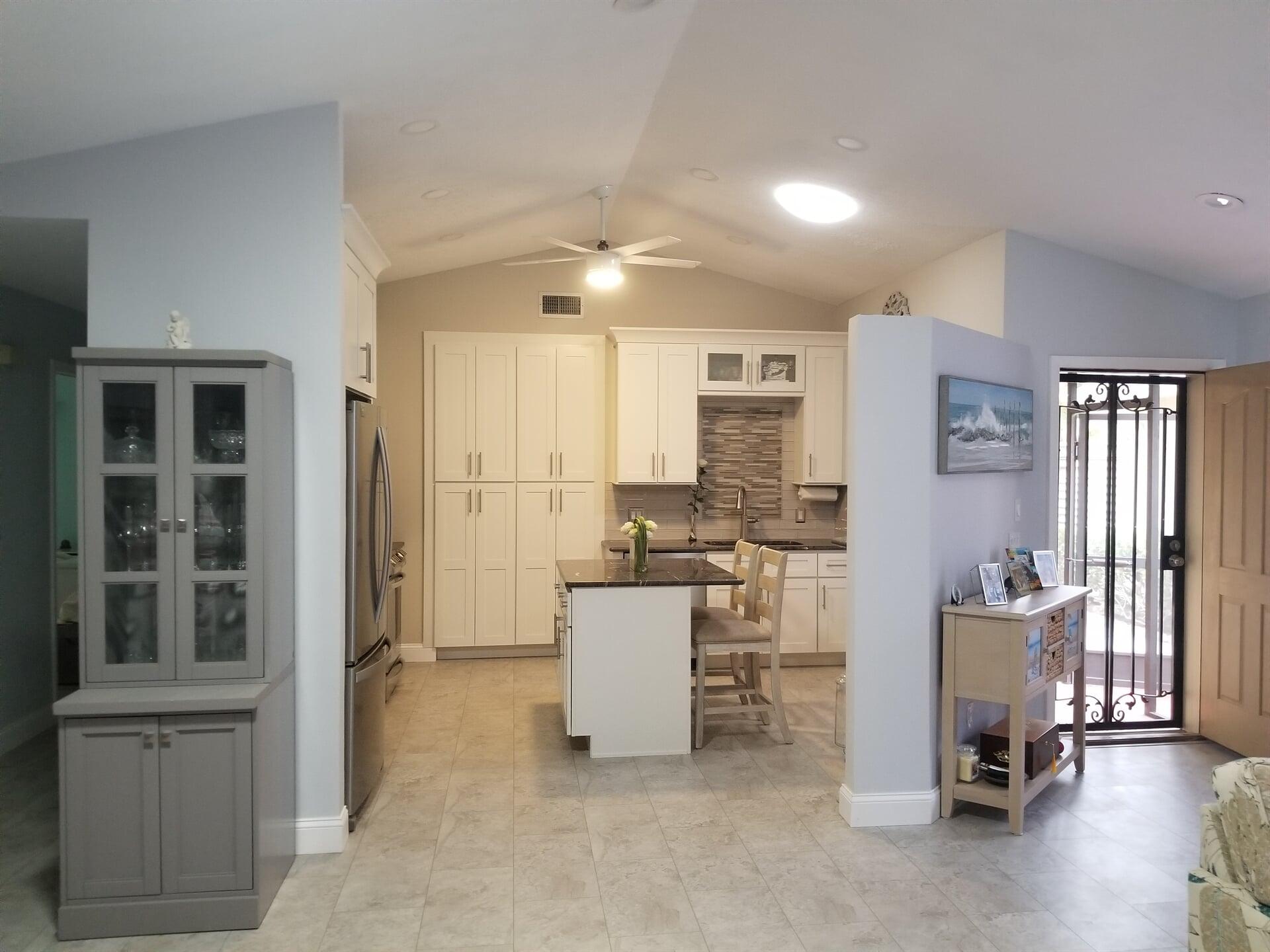 Modern kitchen design in Jensen Beach, FL from Agler Kitchen, Bath & Floors