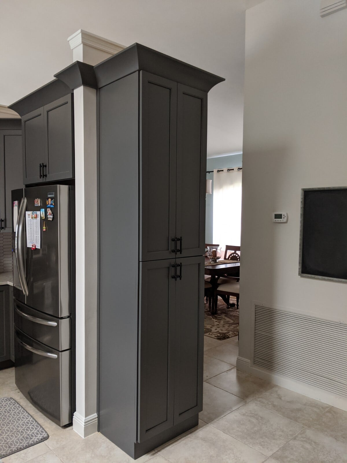 Beautiful grey cabinets in Port Saint Lucie, FL from Agler Kitchen, Bath & Floors