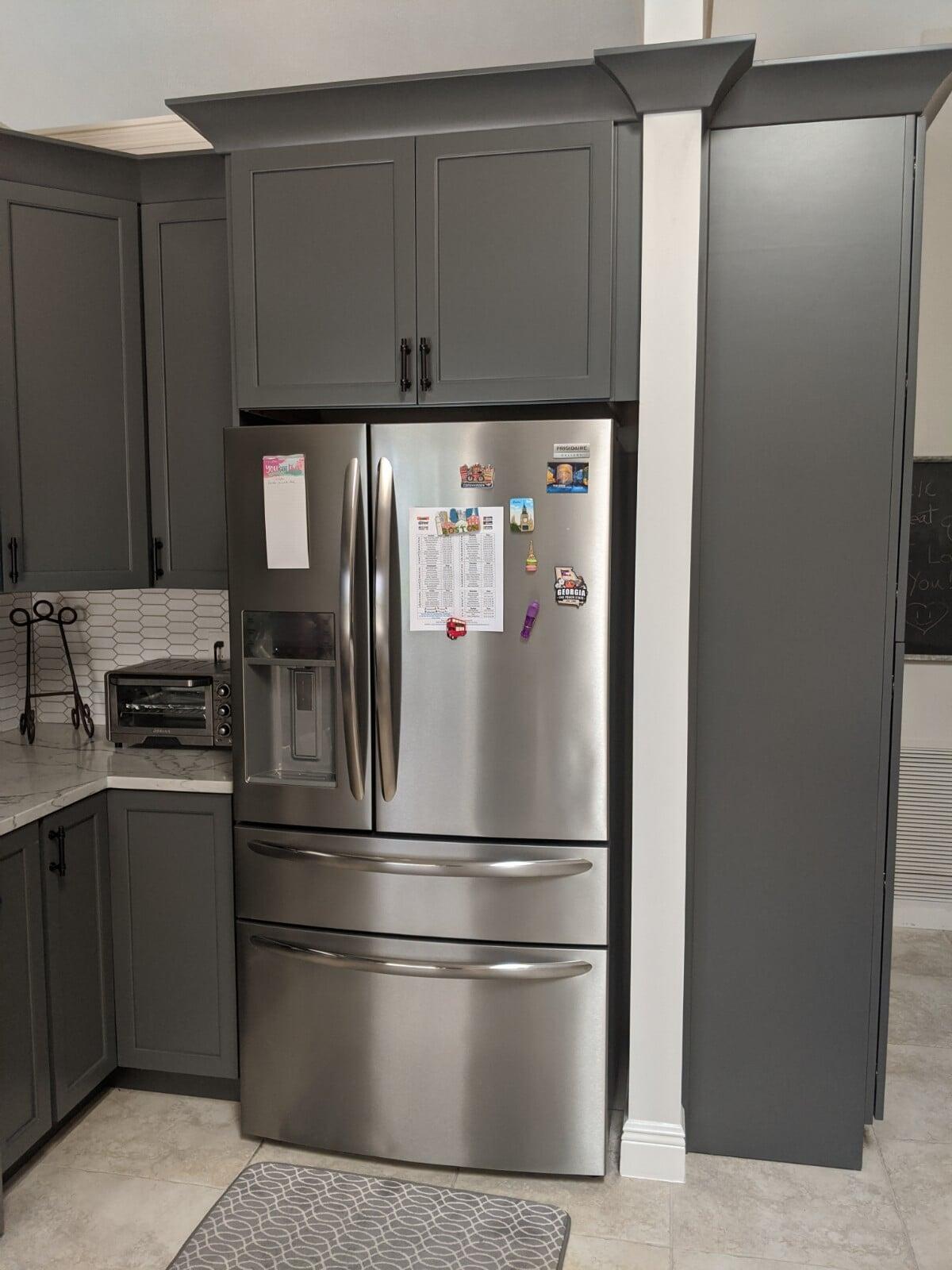 Grey kitchen design in Port Saint Lucie, FL from Agler Kitchen, Bath & Floors