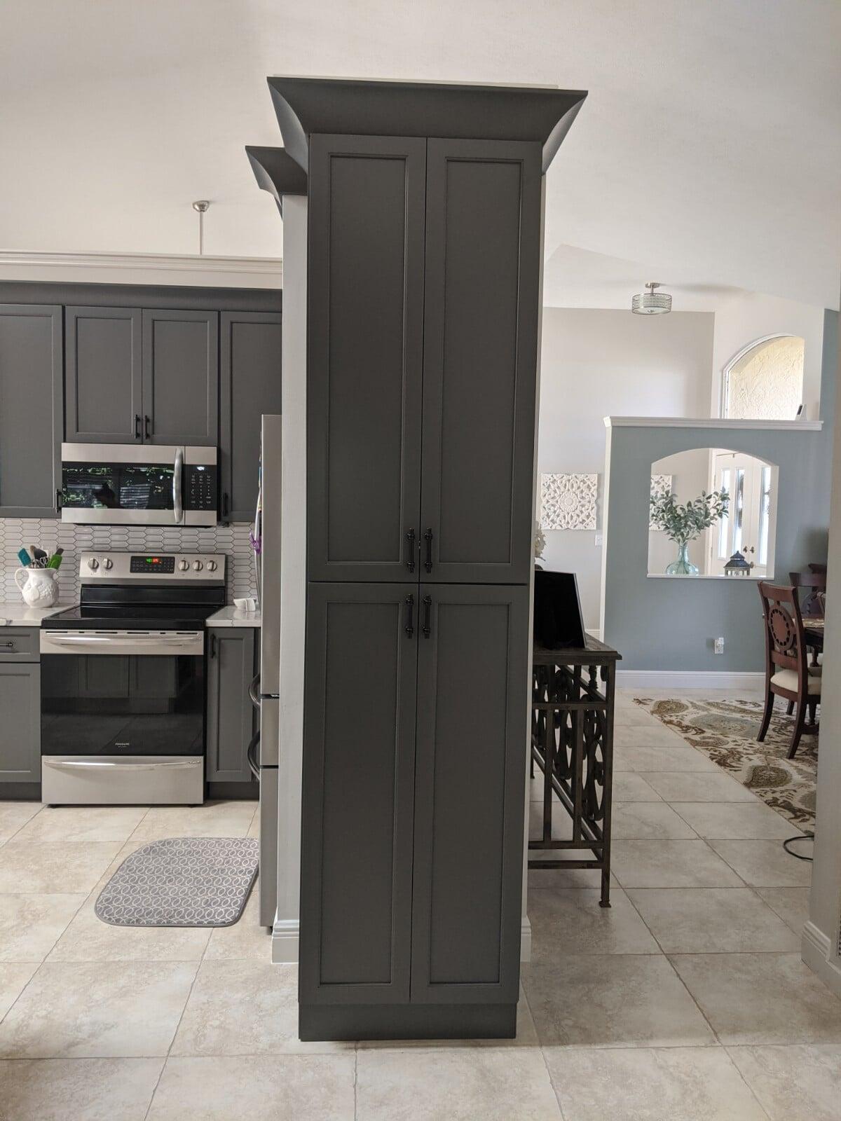 Custom grey cabinets in Port Saint Lucie, FL from Agler Kitchen, Bath & Floors