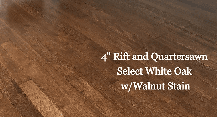 "4"" Rift and Quartersawn Select White Oak w/ Walnut Stain in Trappe, MD from Carousel Hardwood Floors"