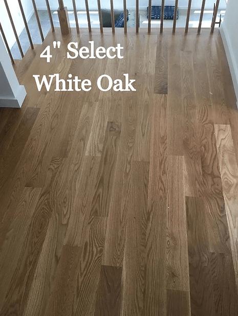 """4"""" Select White Oak hardwood flooring in Easton, MD from Carousel Hardwood Floors"""