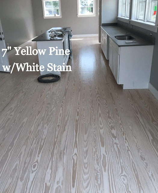 "7"" Yellow Pine w/ White Stain in Cambridge, MD from Carousel Hardwood Floors"